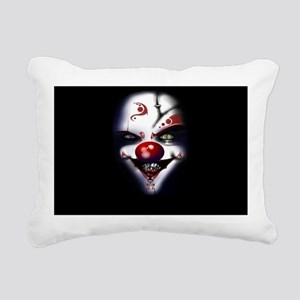Evil Clown Rectangular Canvas Pillow